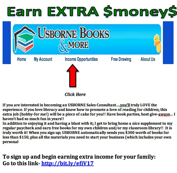 Usborne earn $ post