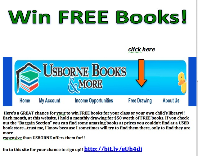 Usborne win free books